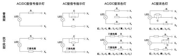 2,110v及以上电压时,ac/dc型信号指示灯的外壳温升高于ac型